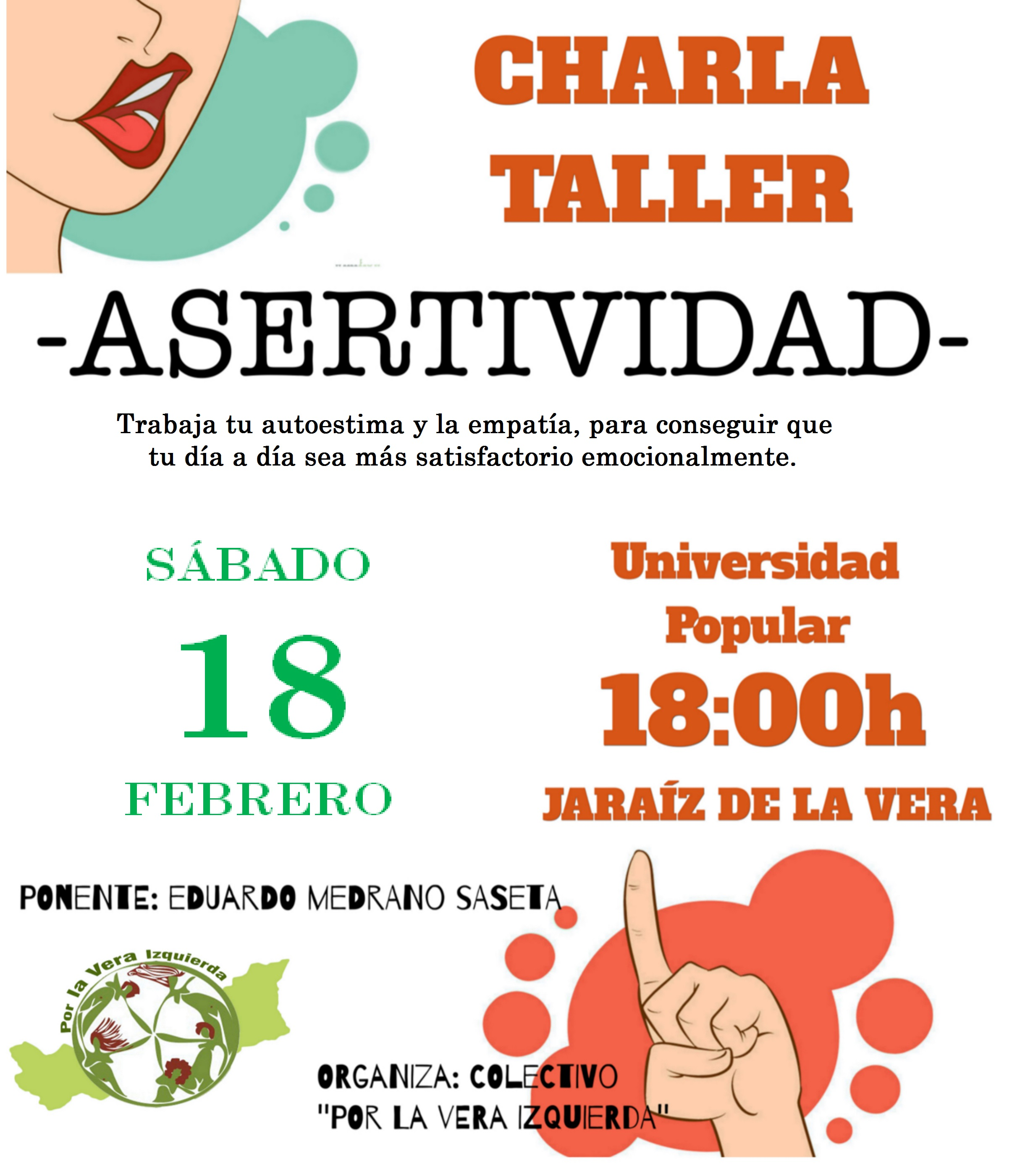 Taller de asertividad el próximo día 18 en la Universidad Popular de Jaraíz de la Vera