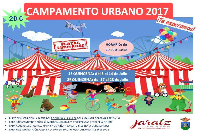 El miércoles 7 de junio se abre el plazo de inscripción para los Campamentos Urbanos