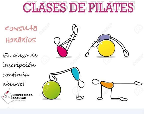 Clases de Pilates. Curso de Español y de Yoga en la Universidad Popular de Jaraíz de la Vera