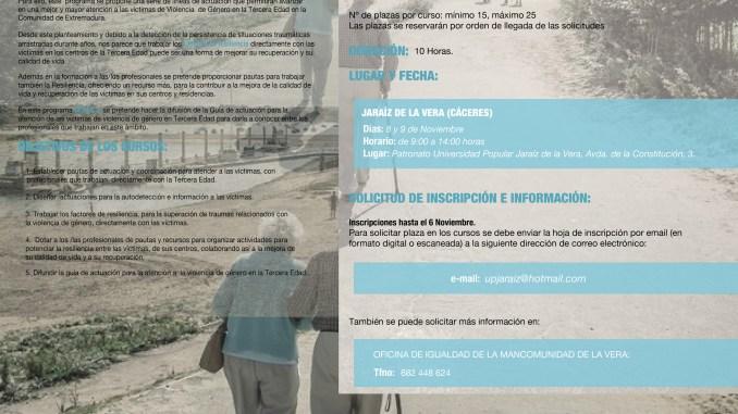 Curso del Programa Geras en Jaraíz de la Vera en la Universidad Popular