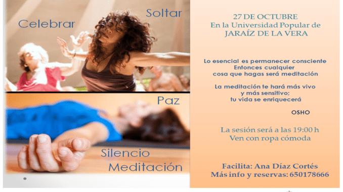 Sesión de Meditación Activa en la Universidad Popular de Jaraíz de la Vera