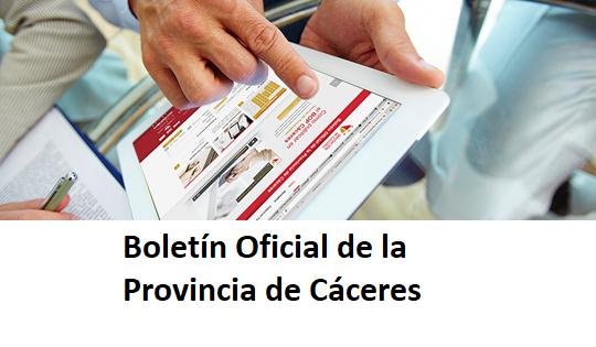 Boletín Oficial de la Provincia de Cáceres