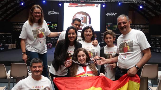 Loida Zabala consigue un doblete de Bronce en el Campeonato de Europa de Para Powerlifting