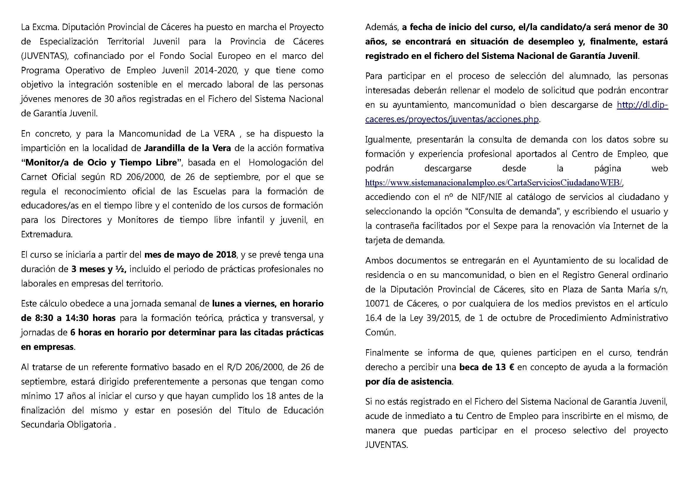folleto informativo VERA Monitor de Ocio y Tiempo Libre - Actualidad ...