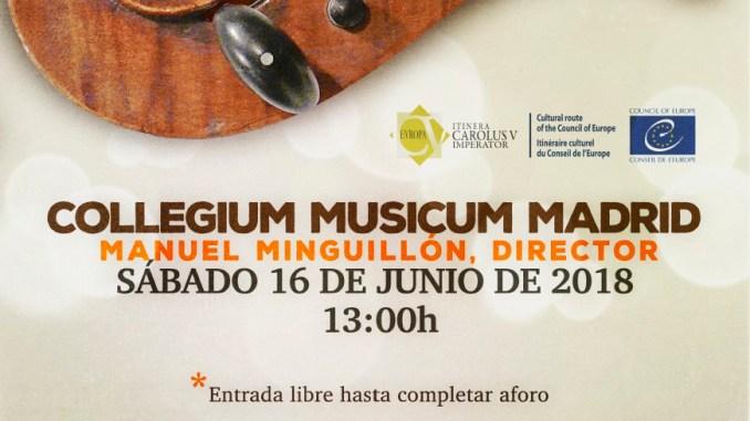 Concierto del COLLEGIUM MUSICUM MADRID en el Real Monasterio de San Jerónimo de Yuste