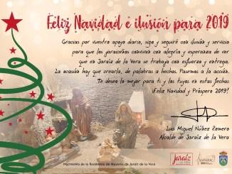 Mensaje de Felicitación de Navidad del Alcalde de Jaraíz de la Vera a todos los Jaraíceños/as