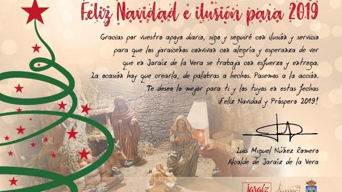 Imagenes Felicitacion Navidad 2019.Mensaje De Felicitacion De Navidad Del Alcalde De Jaraiz De