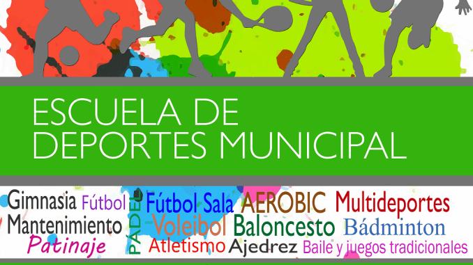 Abierto el plazo de inscripción de las Escuelas de Deportes Municipal hasta el 20 de septiembre