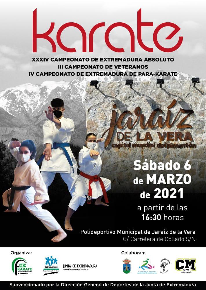 Jaraíz de la Vera acogerá este sábado el Campeonato de Extremadura de Karate 2021