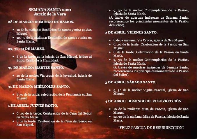 Programa Semana Santa Jaraiceña 2021