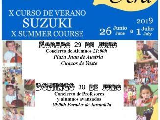 """X Curso de Verano SUZUKI """"Música en LA VERA"""""""