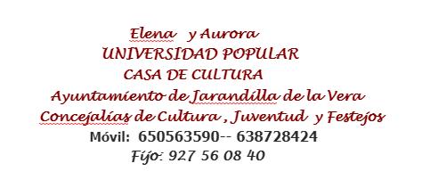 Concejalia de Cultura - Jarandilla de la Vera