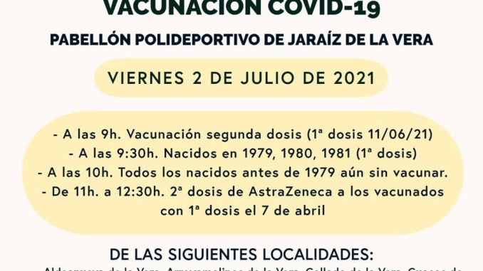 vacunaciones masivas 02 de julio 2021