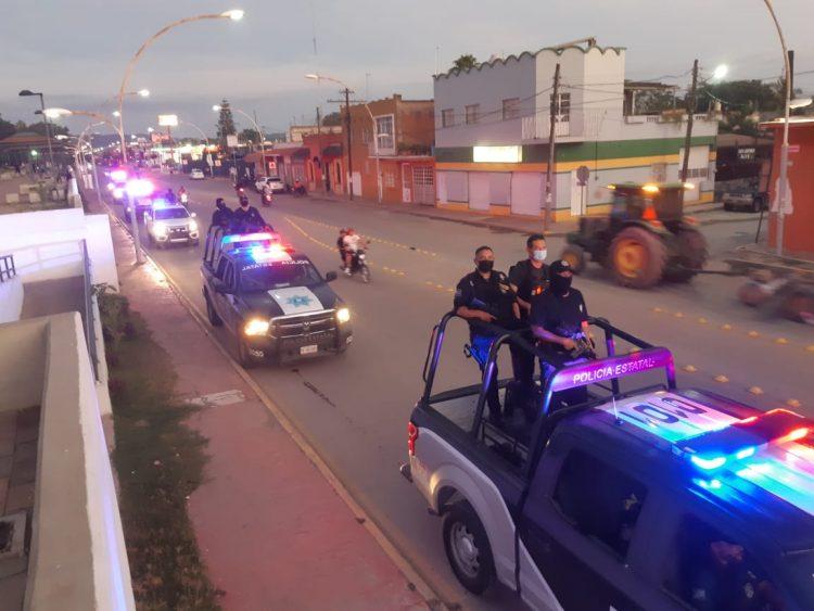 Trabajo coordinado de seguridad para prevenir hechos delincuenciales en Tuxpan