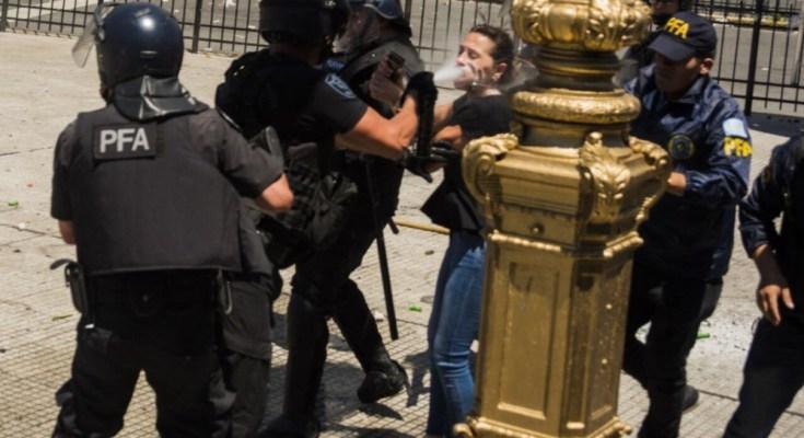 policía senado reforma previsional