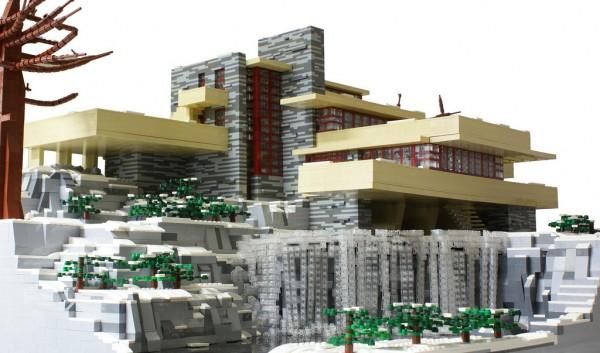La Casa de la Cascada de Frank Lloyd Wright hecha con piezas de Lego  diariodesigncom
