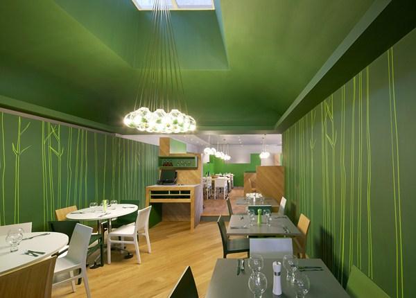 ASK Italian Hertford un restaurante verde y minimalista