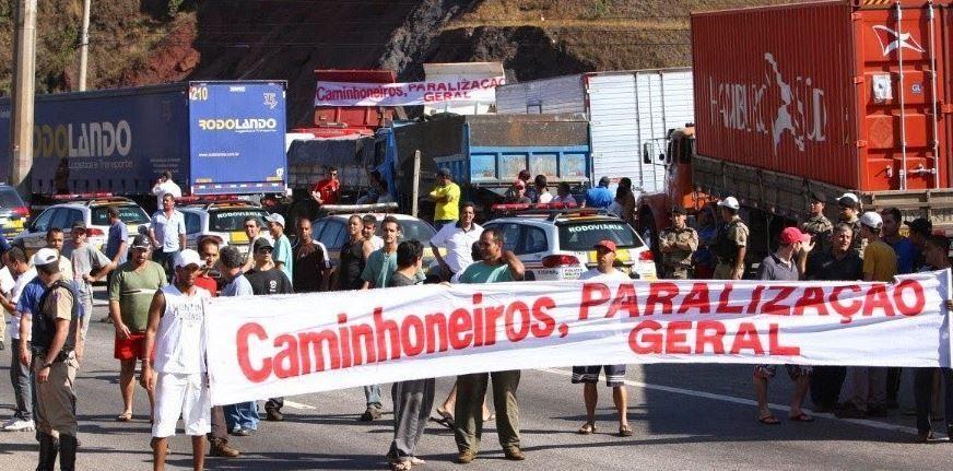 gremio, camioneros, huelga, Brasil,