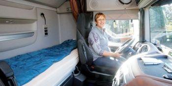 viajes, europa, países, conduciendo, junto, marido, semanas, semana, juntos, camión, imán,