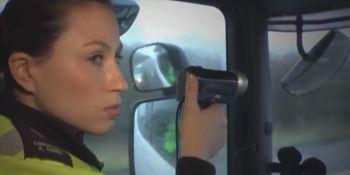 camión, radar, camuflado, Reino Unido,