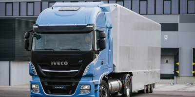 camión, Iveco, 460 NP, autonomía, propulsión, gas, natural, transporte, larga, distancia,