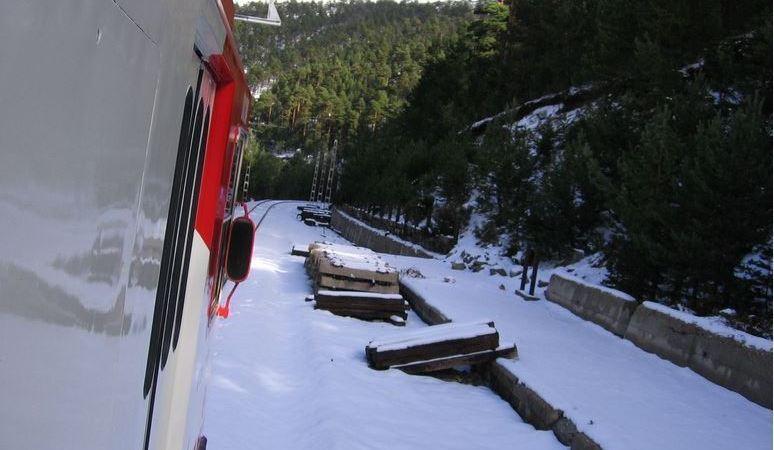 Renfe, fleta, tren, estación, Cotos, Navacerrada,