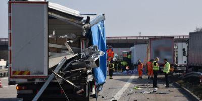 cuatro, camiones, accidente, A-6, Alemania, heridos, graves, camioneros,