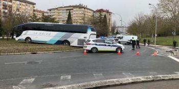 autobús, rotonda, 200, conductor, Vitoria, deslizado,