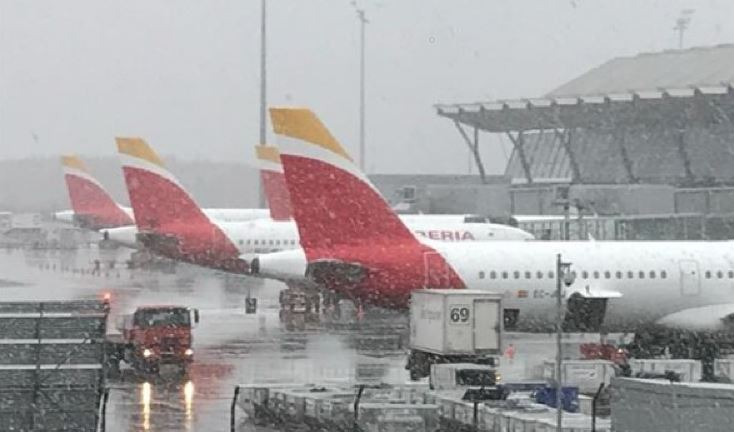 Iberia, proceso, deshielo, aviones, minutos,