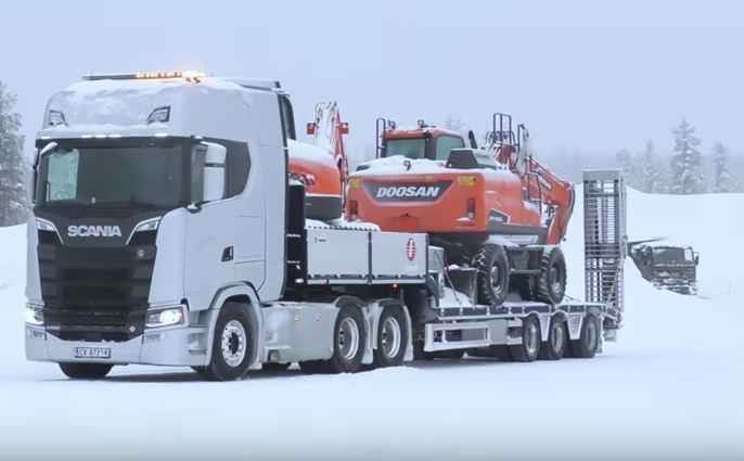 Scania, prueba, nieve, Noruega,