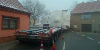 transporte especial, atascado, Alemania,