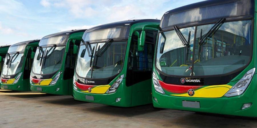 Scania, autobuses, Lagos, transporte, público, entrega,
