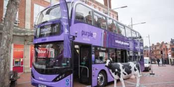 autobús, biogás, Reino Unido, funciona, recorrido, ecológico,