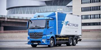 primer, camión, 100%, eléctrico, Dachser, Mercedes-Benz,