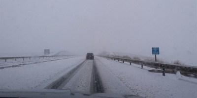 problemas, A-23,, temporal nieve, Pirineos, Monrepós, puertos,