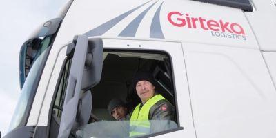 pilotos, OTAN, base, Girteka Logistics, camiones