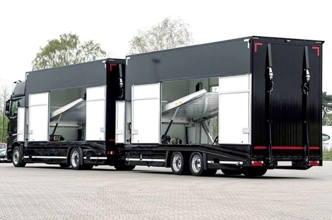 camión, remolque, portacoches, futuro, altura, transporte, vehículos,