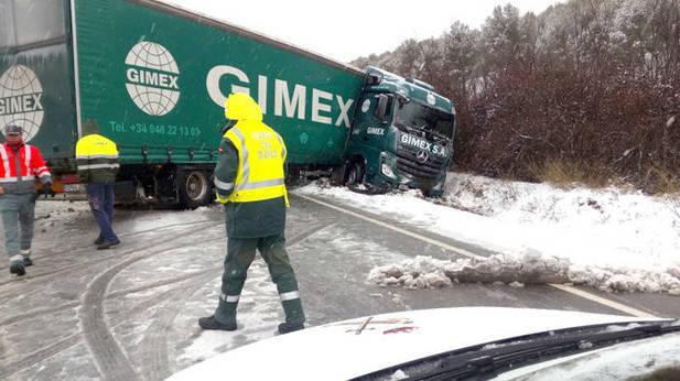 prohibición, circular, camiones, red, principal, Navarra,
