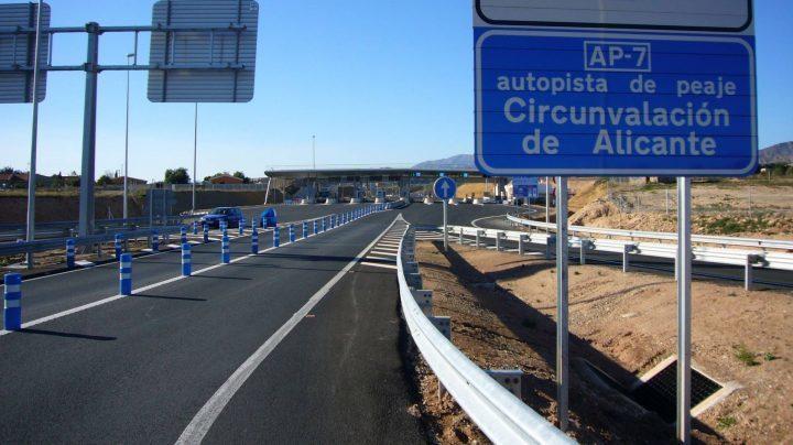 Fomento, rescate, autopistas, alicante, Cartagena, Vera.,