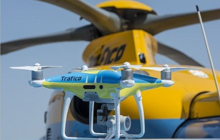 cinco, drones, vigilarán, carreteras, verano, desplazamientos,