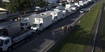 huelga, camioneros, Brasil, paraliza, país,