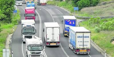 N-II, alfajarín, Fraga, camiones, tráfico, pesado, autopista, desvío,
