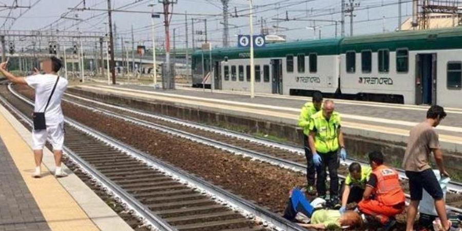 polémico, selfie, mujer, atropellada, tren, joven,