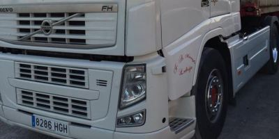 camión, robado, Lebrija, Volvo, contenedor,