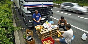 camioneros, españoles, exceso, peso,