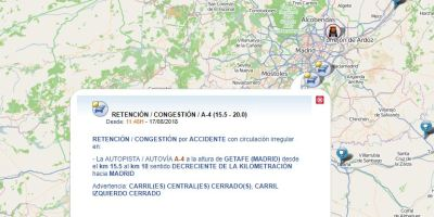retenciones, A-4, accidente, Madrid,