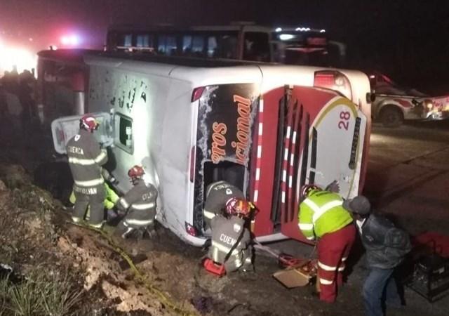 11, personas, muertas, 37, heridas, accidente, autobús, Ecuador,