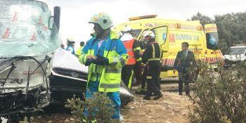 M-510, fallecido, herido, choque, camión, turismo, M