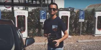 robar, Tesla S, segundos, vídeo,