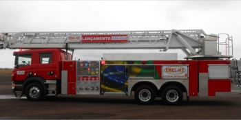 Scania, camión, bomberos, único, personalizado,